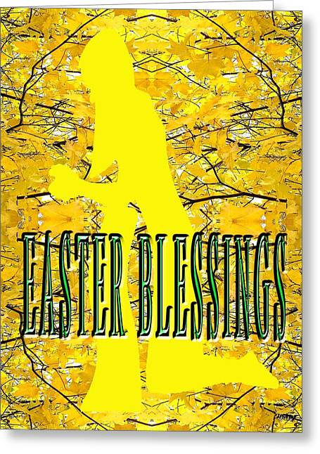 Knelt Mixed Media Greeting Cards - Easter 20 Greeting Card by Patrick J Murphy
