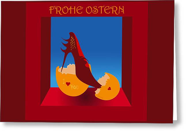 Frohe Greeting Cards - Easter 24 Greeting Card by Johannes Murat