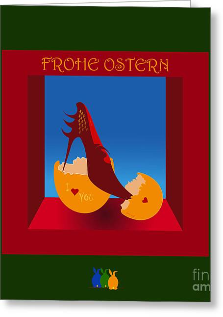 Frohe Greeting Cards - Easter 30 Greeting Card by Johannes Murat