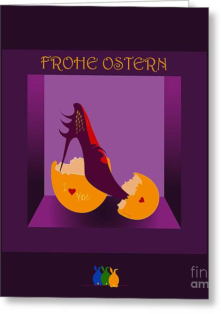 Frohe Greeting Cards - Easter 35 Greeting Card by Johannes Murat