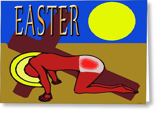 Religious Mixed Media Greeting Cards - Easter 35 Greeting Card by Patrick J Murphy