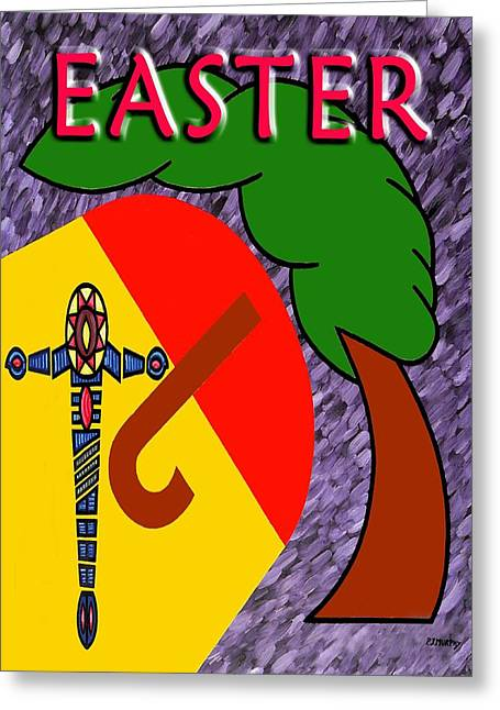 Tablets Greeting Cards - Easter 4 Greeting Card by Patrick J Murphy