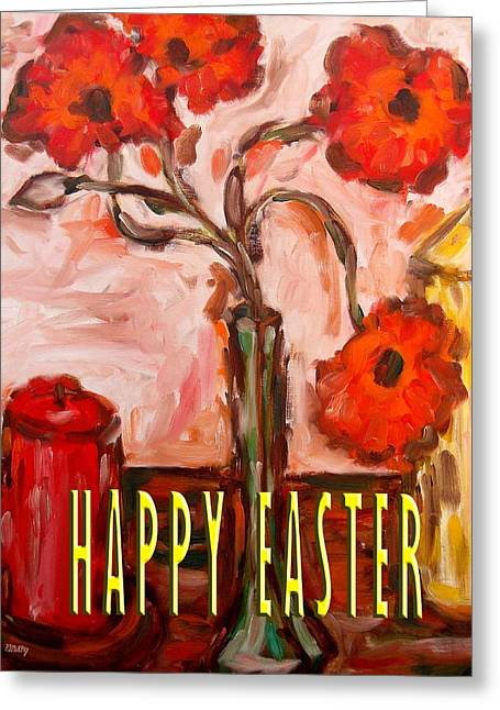 Easter Flowers Paintings Greeting Cards - Easter 59 Greeting Card by Patrick J Murphy