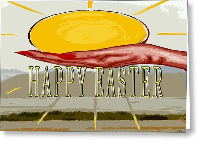 Jesus Mixed Media Greeting Cards - Easter 75 Greeting Card by Patrick J Murphy