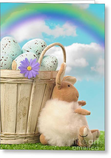 Easter Egg Greeting Cards - Easter Basket Greeting Card by Amanda And Christopher Elwell