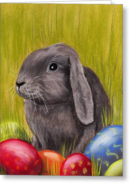Holiday Pastels Greeting Cards - Easter Bunny Greeting Card by Anastasiya Malakhova