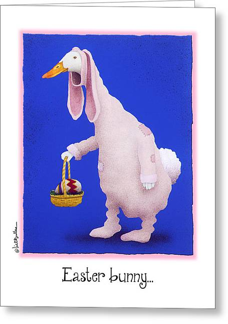 Easter Bunny... Greeting Card by Will Bullas