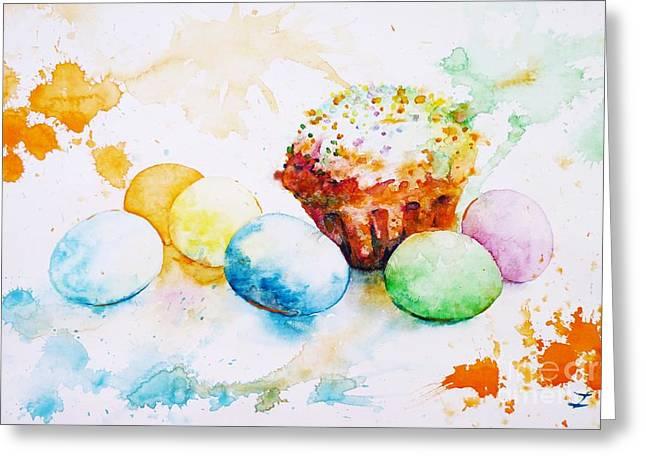 Easter Colors Greeting Card by Zaira Dzhaubaeva