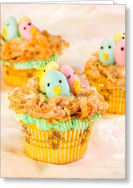 Owner Greeting Cards - Easter Cupcakes  Greeting Card by Iris Richardson