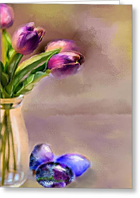 Easter Eggs Greeting Card by Mary Timman