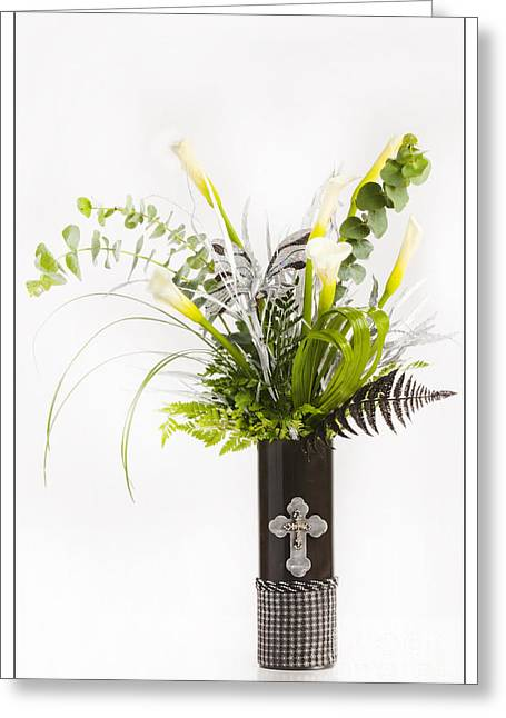 Vase Framed Prints Greeting Cards - Easter Flower Arrangement 8056.02 Greeting Card by M K  Miller