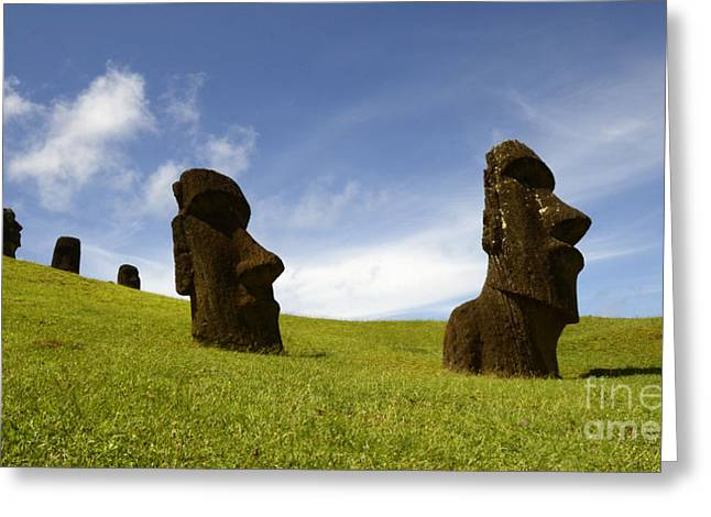 Moai Greeting Cards - Easter Island 10 Greeting Card by Bob Christopher