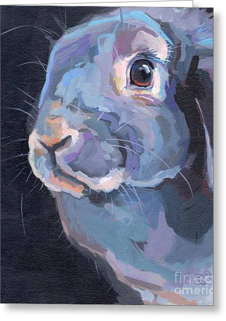 Lavendar Greeting Cards - Easter Lop Greeting Card by Kimberly Santini