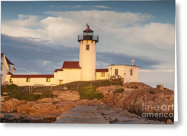 Body Of Water Greeting Cards - Eastern Point Lighthouse Greeting Card by Juli Scalzi