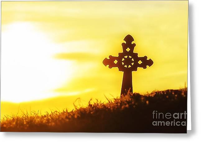 Colorful Cloud Formations Greeting Cards - Easter Sunrise  Greeting Card by Thomas R Fletcher