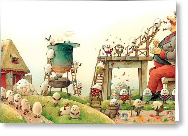 Easter Egg Greeting Cards - Eastereggs 07 Greeting Card by Kestutis Kasparavicius