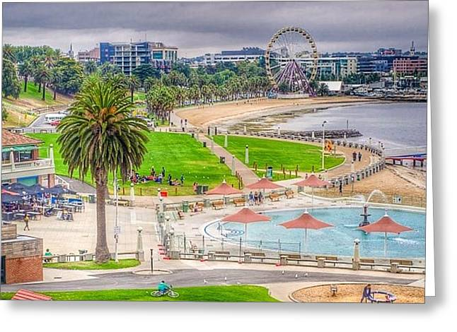 Geelong Greeting Cards - Eastern Beach Greeting Card by Trevor Priddle