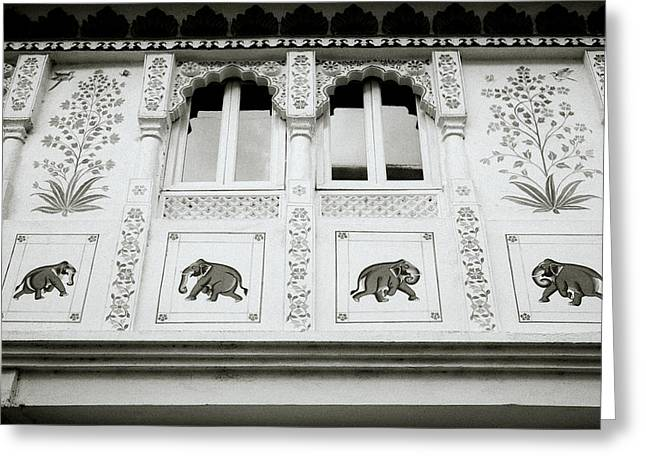 Abstract Style Greeting Cards - The Elephants Of India Greeting Card by Shaun Higson