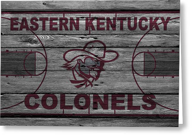 Division Greeting Cards - Eastern Kentucky Colonels Greeting Card by Joe Hamilton