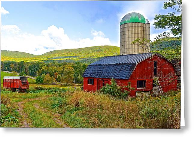 Hay Bales Greeting Cards - Eastern PA Farm Greeting Card by Frozen in Time Fine Art Photography