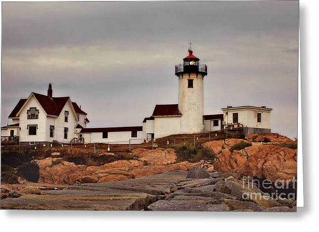 New England Lighthouse Greeting Cards - Eastern Point Lighthouse Greeting Card by Joann Vitali