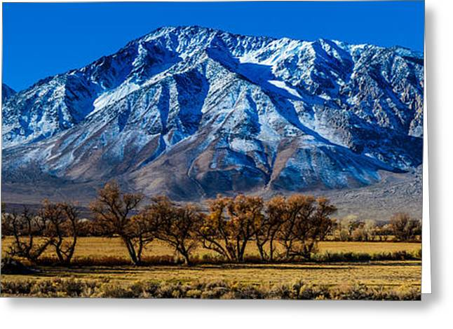 Bishops Peak Greeting Cards - Eastern Sierra Nevada Panorama - Bishop - California Greeting Card by Gary Whitton
