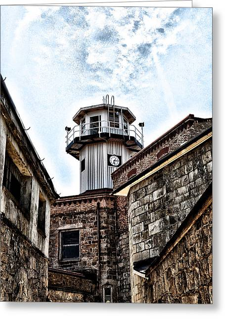 Guard Tower Greeting Cards - Eastern State Penitentiary Guard Tower Greeting Card by Bill Cannon