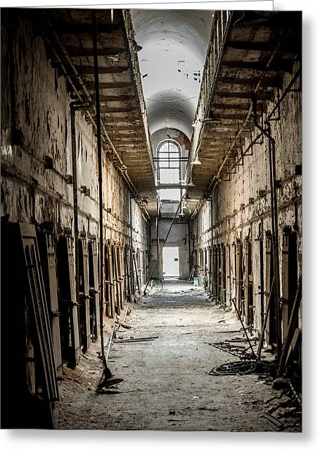 Decay Laws Greeting Cards - Eastern State Penitentiary Greeting Card by Jim DeLillo