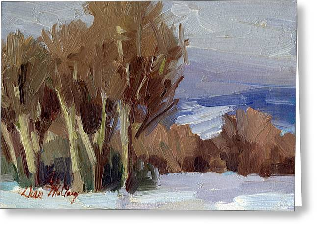 Gray Sky Greeting Cards - Eastern Washington Winter Greeting Card by Diane McClary