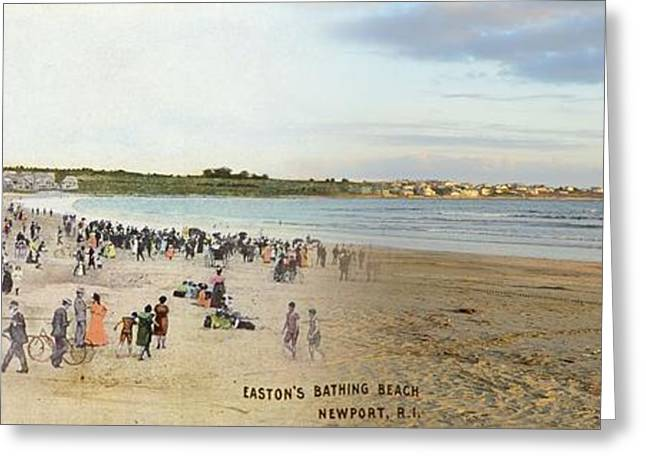 Historical Pictures Greeting Cards - Eastons Beach in Newport Rhode Island Greeting Card by Jeff Hayden