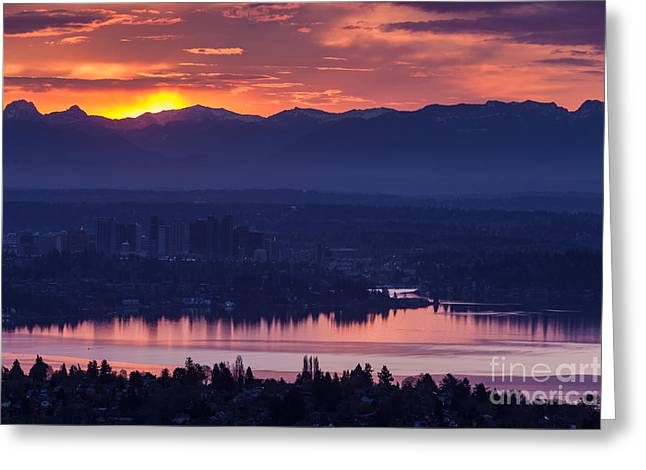 Eastside Awakening Greeting Card by Mike Reid