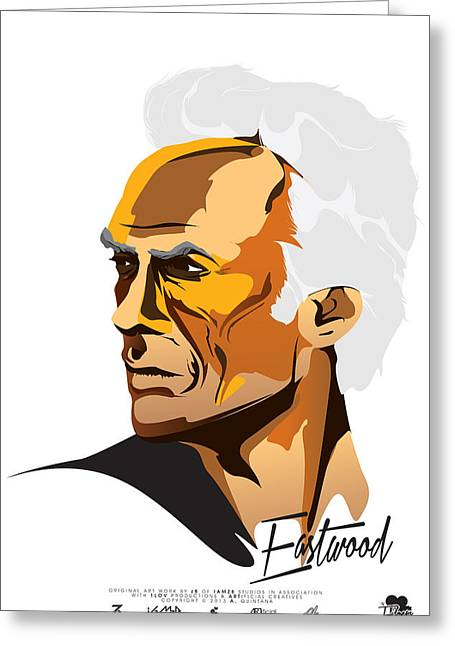 Unforgiven Greeting Cards - Eastwood Greeting Card by Andres Quintana