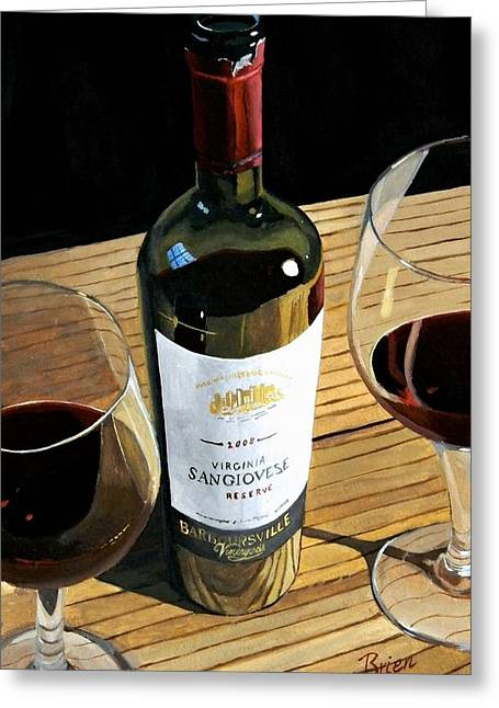 Wine Prints Greeting Cards - Easy Living Greeting Card by Brien Cole