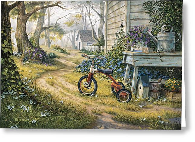 Watering Can Greeting Cards - Easy Rider Greeting Card by Michael Humphries
