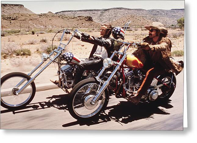 Easy Rider  Greeting Card by Silver Screen
