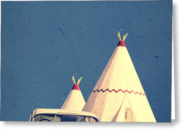 Eat and Sleep in a Wigwam Greeting Card by Edward Fielding