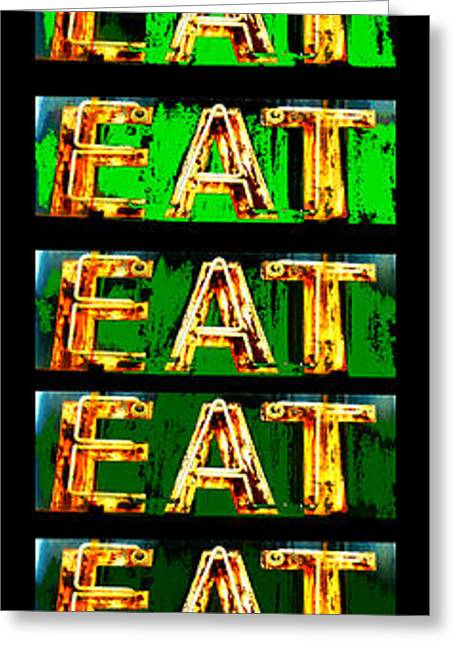 Jame Hayes Digital Art Greeting Cards - Eat Up Greeting Card by Jame Hayes