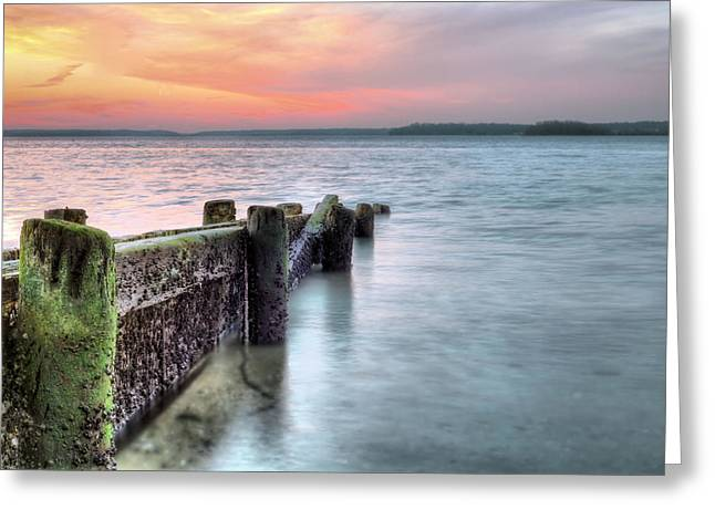 York Beach Greeting Cards - Eatons Neck Greeting Card by JC Findley
