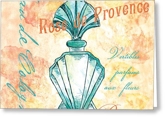 Powder Greeting Cards - Eau de Cologne Greeting Card by Debbie DeWitt