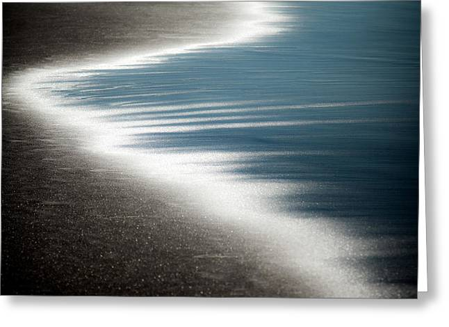 Foam Greeting Cards - Ebb and Flow Greeting Card by Dave Bowman
