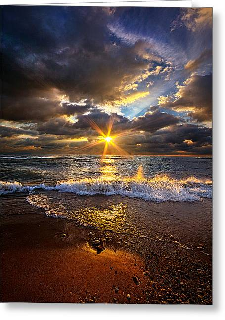 Ocean Shore Greeting Cards - Ebb and Flow Greeting Card by Phil Koch