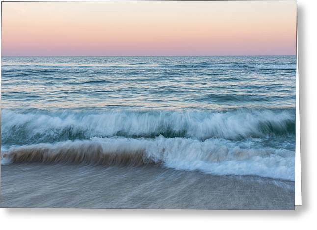 Fun New Art Greeting Cards - Ebb and Flow Seaside New Jersey Greeting Card by Terry DeLuco