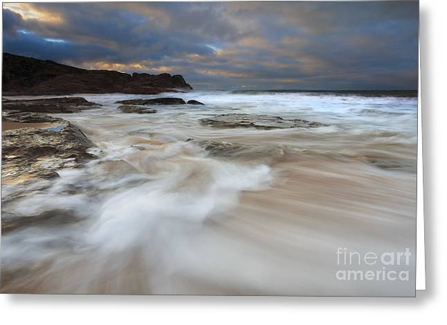 Ebbtide Sunrise Greeting Card by Mike Dawson