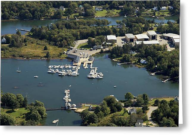 Boothbay Harbor Greeting Cards - Ebenecook Harbor, Boothbay Harbor Greeting Card by Dave Cleaveland