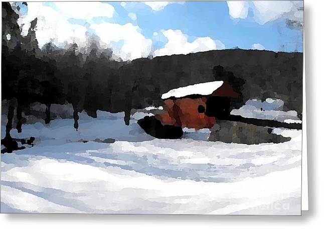 Ebenezer Bridge in Winter Greeting Card by Spencer McKain