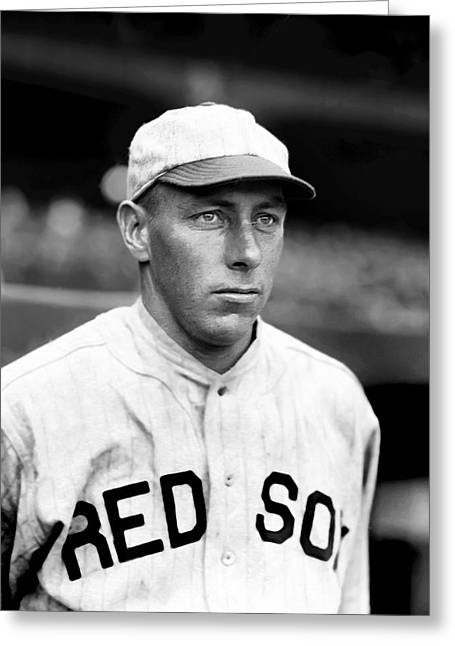 Boston Red Sox Greeting Cards - Ebin D. Del Lundgren Greeting Card by Retro Images Archive