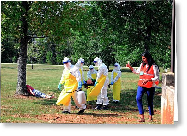 Ebola Care Training Exercise Greeting Card by Cleopatra Adedeji/cdc