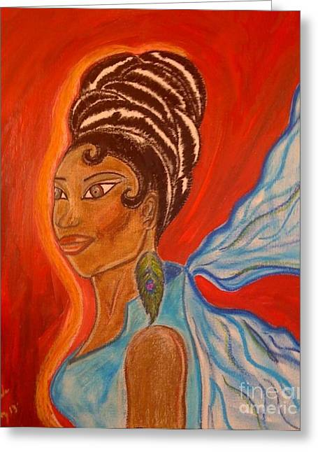 Scarf Pastels Greeting Cards - Ebony Chic Greeting Card by Lewanda Laboy
