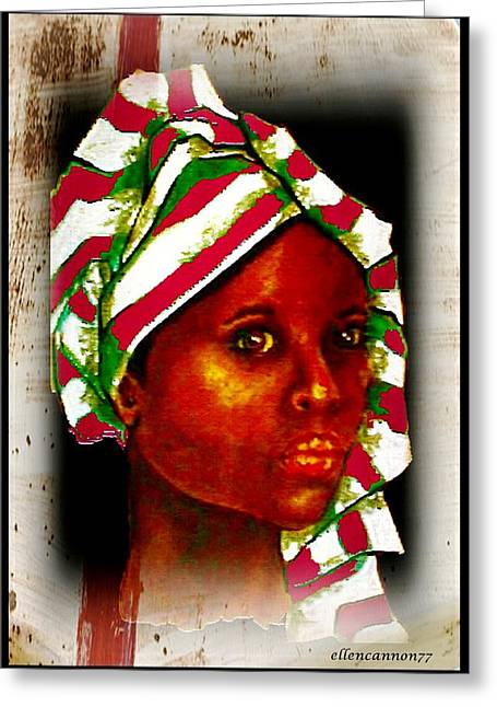 Maiden Pastels Greeting Cards - Ebony II Greeting Card by Ellen Cannon