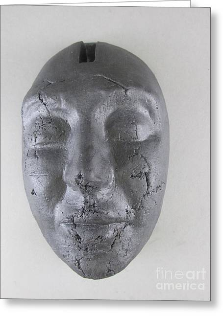 Face Sculptures Greeting Cards - Ebony Love Greeting Card by Anthony George